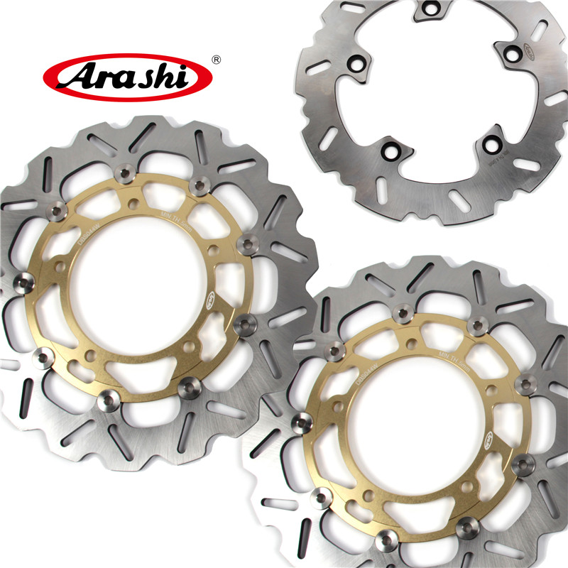 Arashi 1 Set GSX F 650 CNC Front & Rear Brake Disc Brake Rotors For Suzuki GSX 650 F 2008 2009 2010 2011 2012 2013 2014