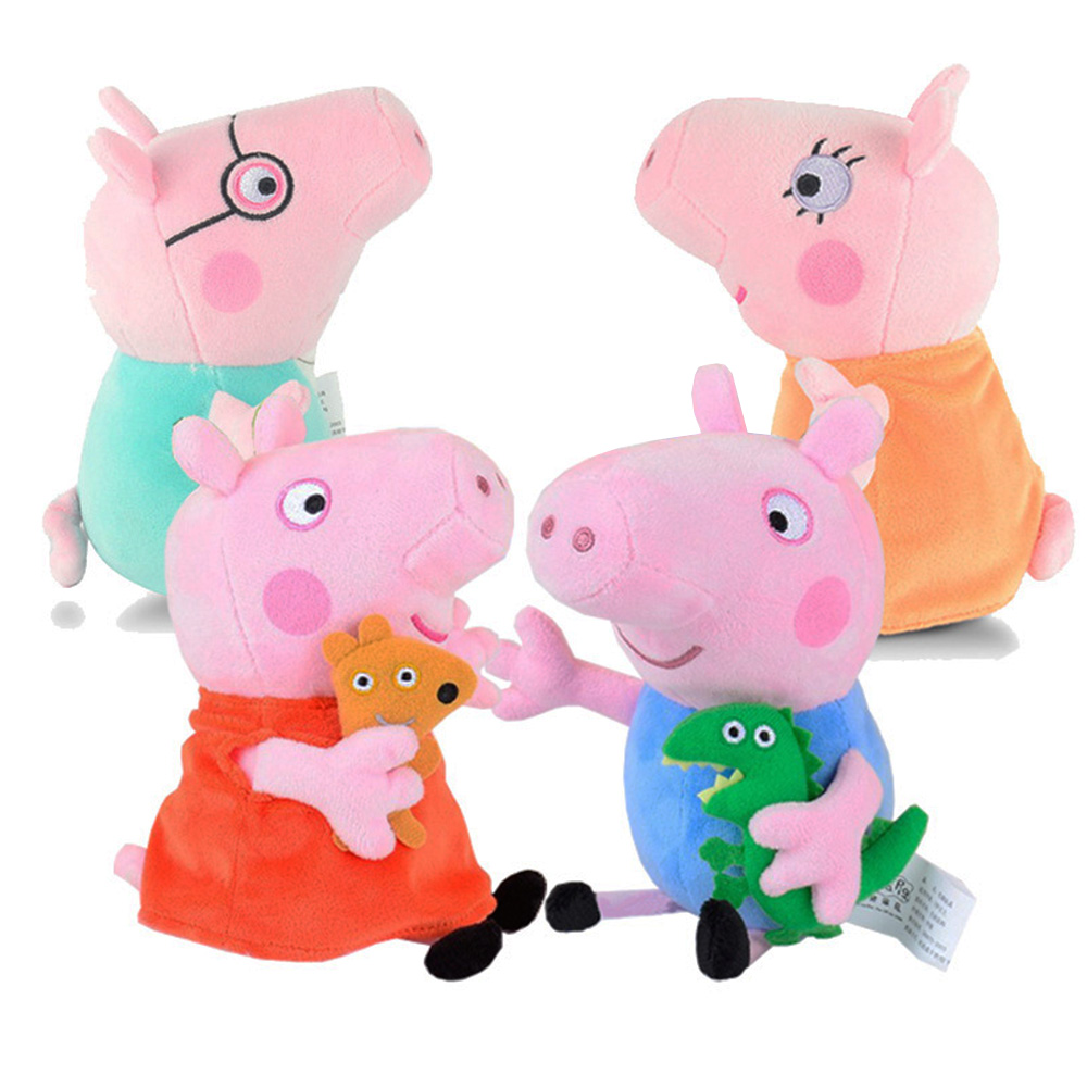 Bettwäsche Peppa Wutz Us 9 97 Original Peppa Pig Plush Toy 19cm 7 5 Peppa George Pig Family Toys Animal Stuffed Plush Doll For Children Kids Birthday Gift In Stuffed