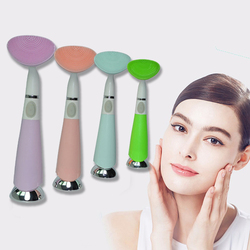 Electric waterproof silicone brush facial cleansing instrument pore dead skin cleanser beauty tool whitening machine 8.jpg 250x250
