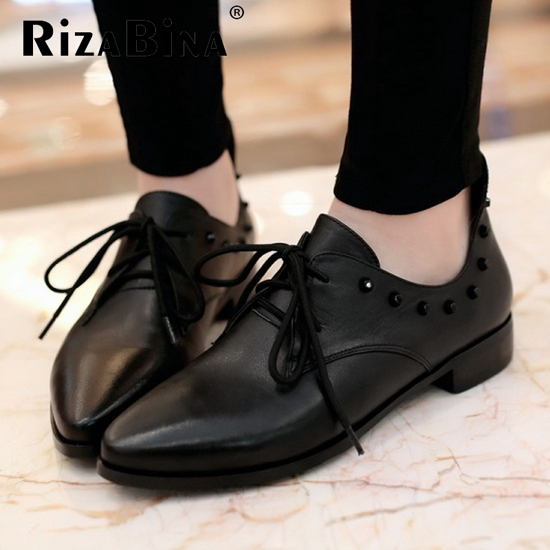 Free shipping genuine leather quality casual flat shoes women fashion R4732 EUR size 34 39