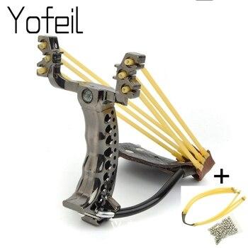 Professional Сильный мощность бренд рогатки эластичные банджи резинкой Foldalbe Рогатка катапульта Замена Охота оборудования