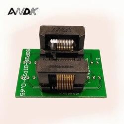 SSOP20 TSSOP20 do DIP20 gniazdo programowania IC Test adapter gniazda boisko 0.65mm szerokości korpusu IC 4.4mm 173mil OTS 28 0.65 01 w Złącza od Lampy i oświetlenie na