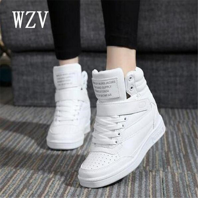 Spring New Designer Wedges White Platform Sneakers Women Shoes 2018 Tenis Feminino Casual Female Shoes Woman Basket Femme B31 phyanic 2017 gladiator sandals gold silver shoes woman summer platform wedges glitters creepers casual women shoes phy3323
