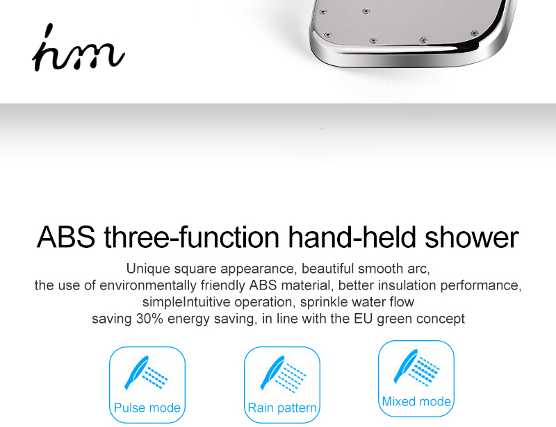 hm Installed Square shower Set Intelligent Digital Temperature Shower Brass Rain Faucet Smart Digital Display Wall Waterfall  (12)