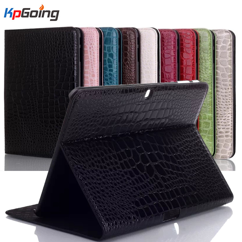 Crocodile Pattern Cover for Samsung Galaxy Tab 4 10.1 T530 Tablet PU Leather Case  for Samsung Tab 4 10.1 T530 Flip Stand Case luxury flip stand case for samsung galaxy tab 3 10 1 p5200 p5210 p5220 tablet 10 1 inch pu leather protective cover for tab3