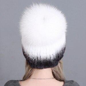 Image 3 - หมวกขนสัตว์สำหรับหญิงหรูหรา Fluffy Ball หมวกรัสเซียใหม่เย็นฤดูหนาวขนสัตว์กระต่ายแท้ลายใหม่ Benies หมวกจัดส่งฟรี