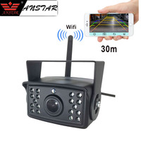 Wireless Backup Camera for Truck Camper Trailer Bus WiFi Vehicle Rear View Camera Night Vision 18 leds Waterproof Remote Monitor
