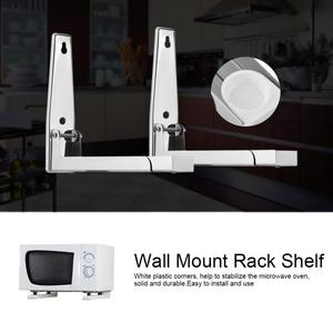 Image 5 - 2pcs Kitchen Stainless Steel Microwave Oven Bracket Sturdy Foldable Stretch Wall Mount Rack Shelf christmas Easy to install