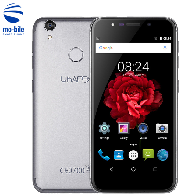 UHAPPY UP720 4G Smartphone 5.0 inch Android 6.0 MTK6737 Quad Core 1.3GHz Cellphone 2GB+16GB 13.0MP Rear Camera Mobile Phone