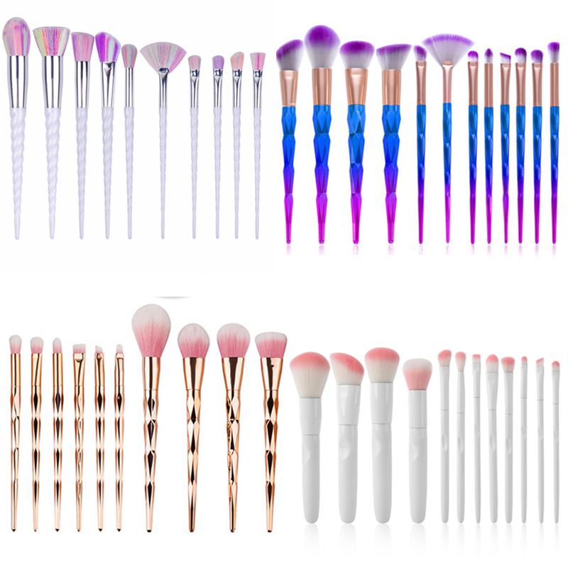 Unicorn Makeup Brushes Fish tail Colorful Foundation Brushes Portable Makeup Brush Cosmetic Tools Eyeshadow Mermaid brushes