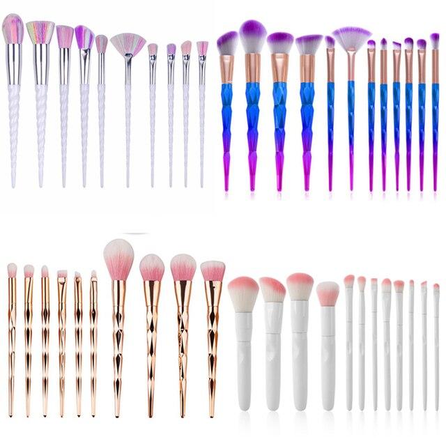 Unicorn Makeup Brushes Fish tail Colorful Foundation Brushes Portable Makeup Brush Cosmetic Tools Eyeshadow Mermaid brushes