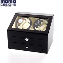 Luxury wooden watch winder with piano finish, High quality 4+6 Automatic watch winder box watch storage case Birthday gifts