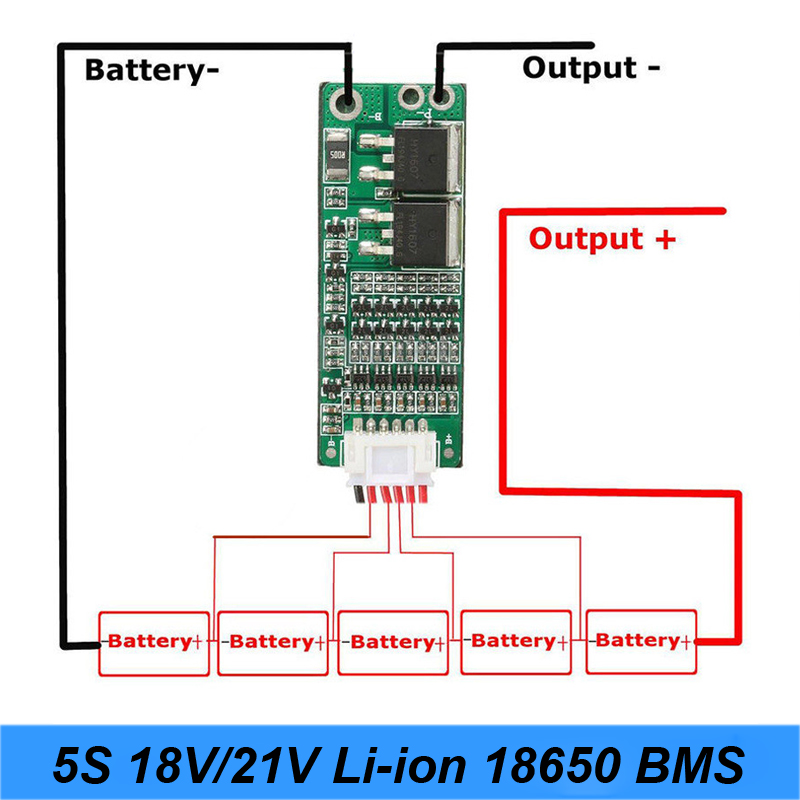 NEW 5S 15A Li-ion Lithium Battery BMS 18650 Battery Screwdriver Charger Protection Board 18V 21V Cell Protection Circuit    AU21