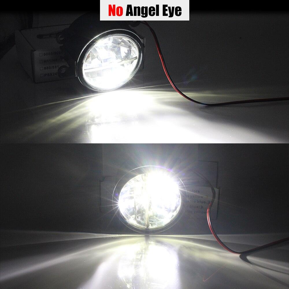 Buildreamen2 Car H11 4000LM LED Lamp Fog Light Assembly Angel Eye Daytime  Running Light DRL 12V For Ford Tourneo Transit Connect