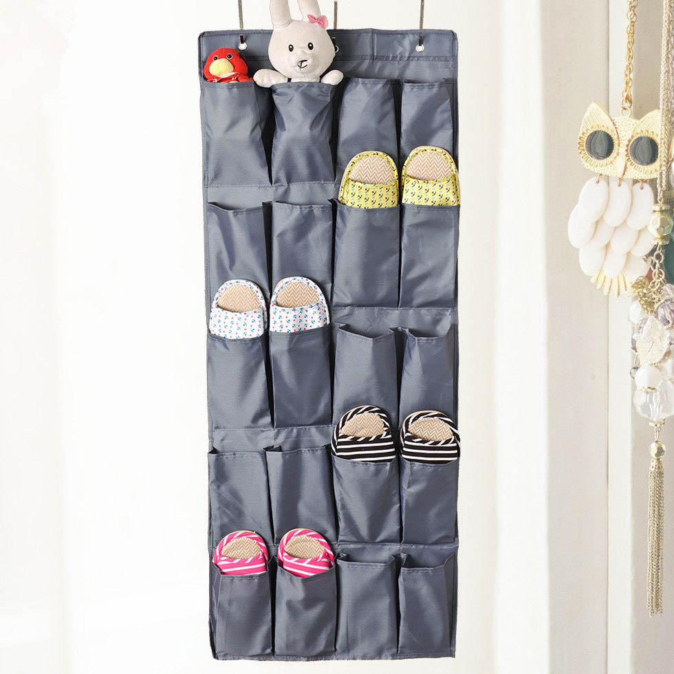 20 Pockets Multi Function Non Woven Shoe Storage Hanging Bag Wall Door Hanging  Organizers Rangement Chaussure Mur