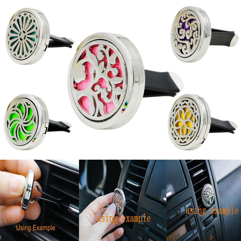 Car-styling Perfume Aromatherapy Essential Oil Diffuser Air Vent Flavoring Vehemo Car Air Freshener Perfumes Clip Storage Box