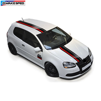 Sport Racing Lines Vinyl Decal Car Styling Body Tail Hood Roof Decorative Sticker For Volkswagen Golf 7 POLO