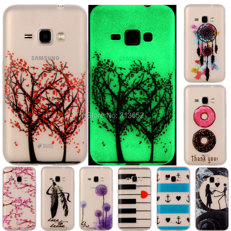 new style a16ca f82c6 US $2.18 |Luxury Luminous cover for Samsung Galaxy J1 2016 case 15 patterns  soft TPU case for Samsung J1 2016 J120F J120 protective shell on ...