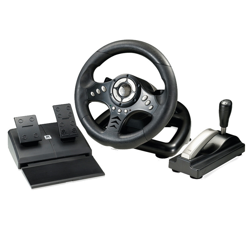 2017 new vibration racing computer games adjust sensitivity PC game steering wheel Learn ...