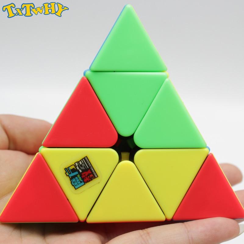 Moyu OJIN MoFang JiaoShi Meilong Pyraminx M 3x3x3 Multi Color Pyraminx Cube Pyramid Triangle Cubo de tetraedro de Cuatro Ejes con un tr/ípode de Cubo y una Bolsa de Cubo