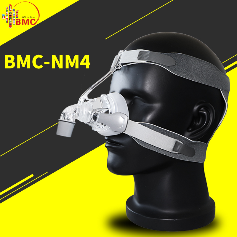 BMC NM4 Nasal Mask With Headgear and SML 3 Size Silicon Gel Cushion For CPAP Auto