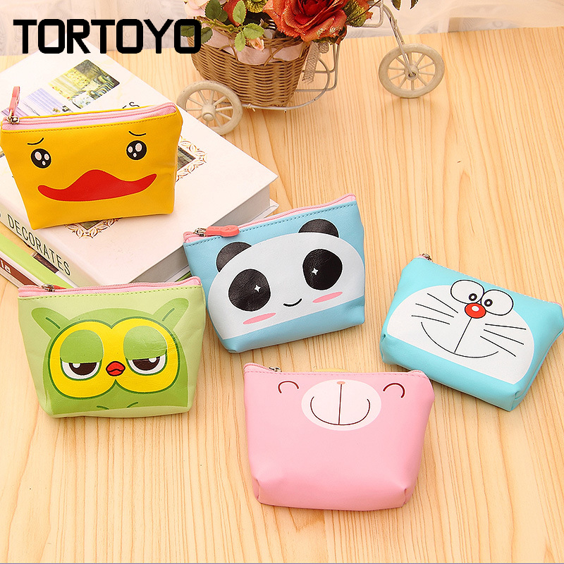Mini Cute Lady Cartoon Lovely Panda Doraemon Eagle Earbud Key Coin Case Storage Pouch Carrying Small Earphone Bag Exchange Box