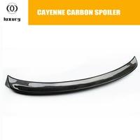 For Porsche Cayenne Carbon Fiber Rear Trunk Wing Spoiler for Cayenne SUV 4 Door 2014 2017