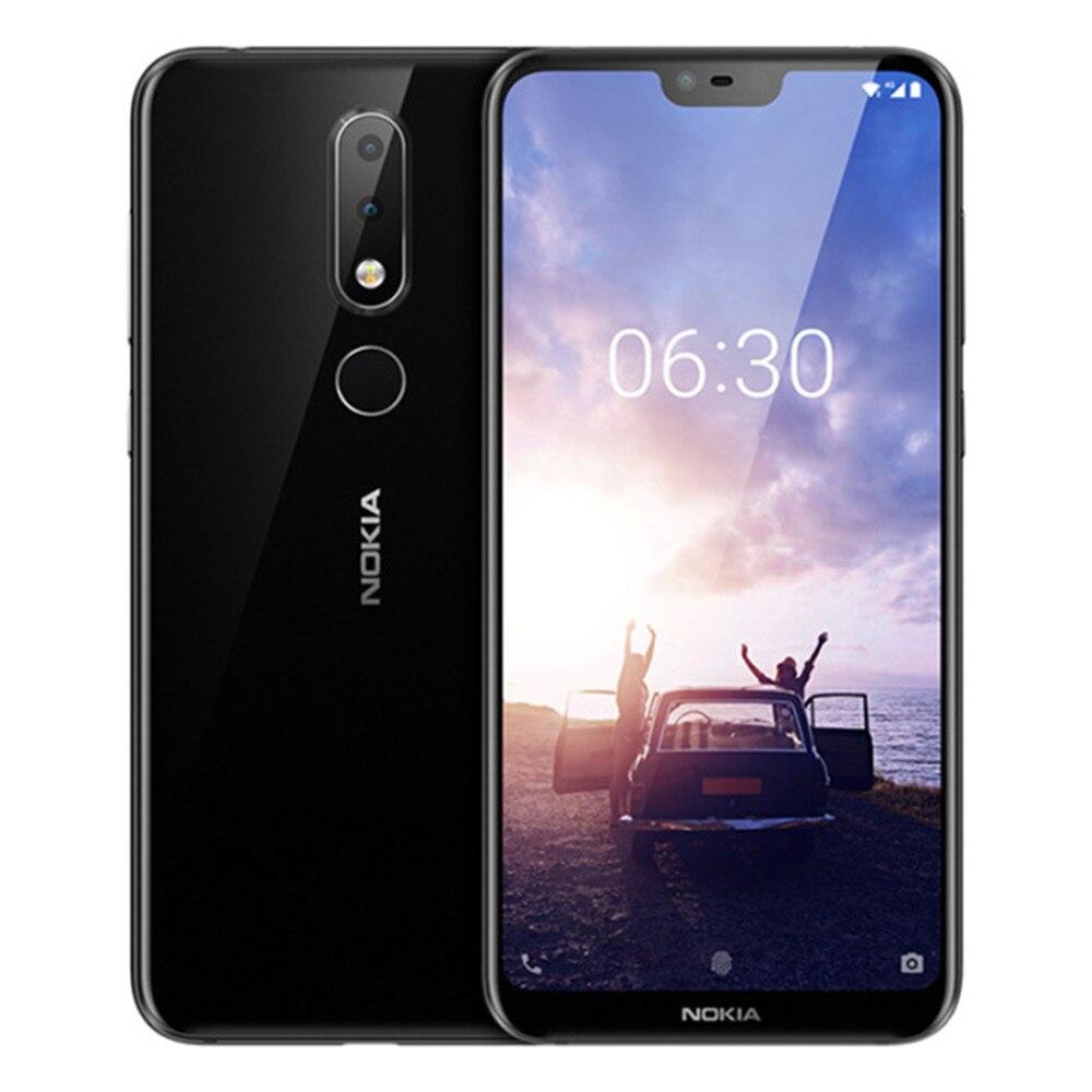 NOKIA X6 6 GB RAM 64 GB ROM Snapdragon 636 1,8 GHz Octa Core 5,8 Zoll Bildschirm Dual Kamera Android 8.1 4G LTE Smartphone