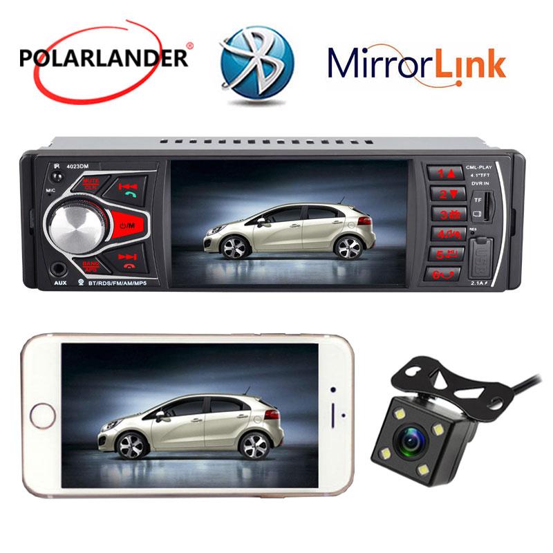 Autoradio radio cassette lecteur lien miroir FM TF USB SD lumières colorées MP5 Bluetooth 4.0 HD 4.1 Pouces audio pour voiture Radio 1 DIN