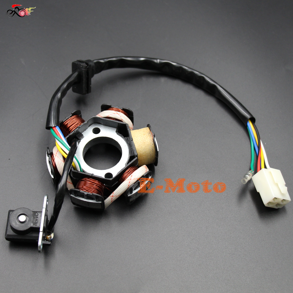 Generous Lifan 125 Wiring Harness Thin Ibanez Pickups Clean Dimarzio Pickup Wiring Color Code Remote Start Wiring Young 5 Way Pickup Switch ColouredDiagram Of Solar System MAGNETO STATOR 6 COIL 5 WIRE 50cc 70cc 90cc 110cc 125cc ATV DIRT ..