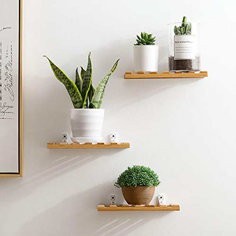 Bamboo Living Room Decoration Shelf Wall Hanging Flower Holder Bedroom Wall Partition Ornament Storage Rack For Flowers Plants Storage Holders Racks Aliexpress