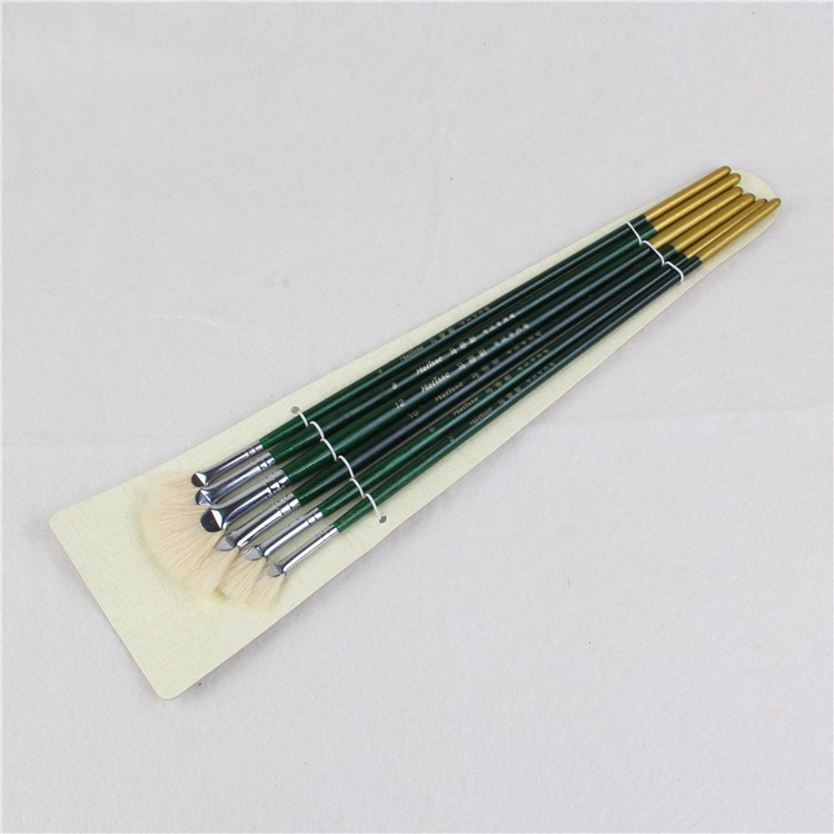 1pc High Quality 6 Sizes Fan-shaped Oil Painting Brushes Set Painting Tools For Artist Art Supplies Student Stationery