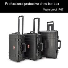 Защитный чехол на колесиках, ящик для инструментов, водонепроницаемый чехол для инструмента, высококачественный чехол для камеры, коробка для оборудования с предварительно вырезанной пеной