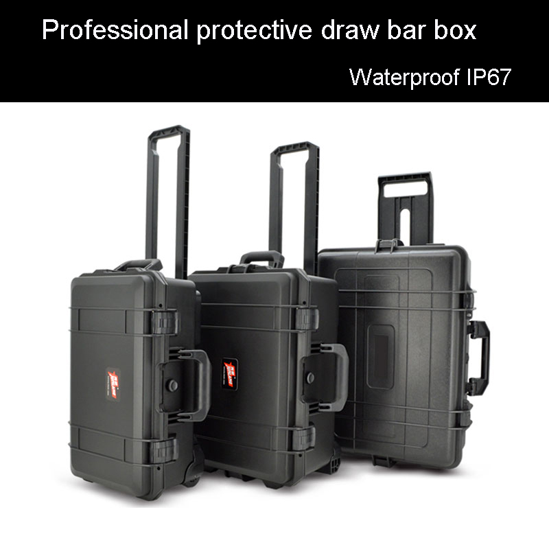 Protective Trolley Case Toolbox Waterproof Tool Case High Quality Camera Case Equipment Box With Pre-cut Foam Shipping Free