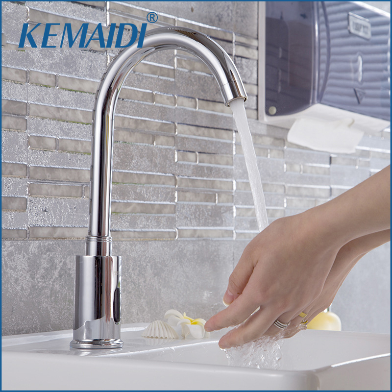 KEMAIDI Automatic Sensor Tap Infrared Sensor Water Saving Faucets Inductive Kitchen Bathroom Water Tap Cold Water