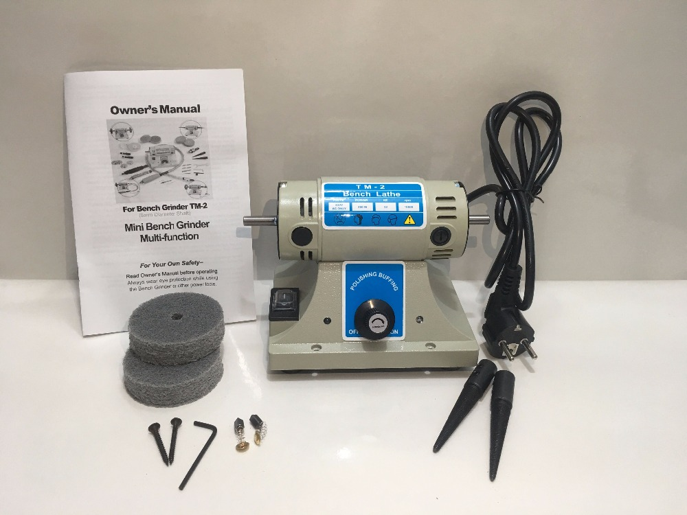 Free Shipping Hot Sale 220V 380W Jewelry Bench Grinder Polishing Machine with Two Spindles 2 buff wheels as gifts