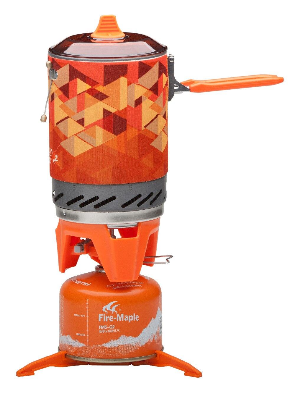 Système de cuisson personnel extérieur érable feu randonnée équipement de Camping OvenPortable meilleur poêle à gaz Propane brûleur ensemble Pot de FMS-X2 - 2