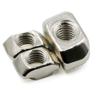 Image 2 - 10/20/50/100pcs M3/M4/M5*10*6 for 20 Series Slot T nut Sliding T Nut Hammer Drop In Nut Fasten Connector 2020 Aluminum Extrusion