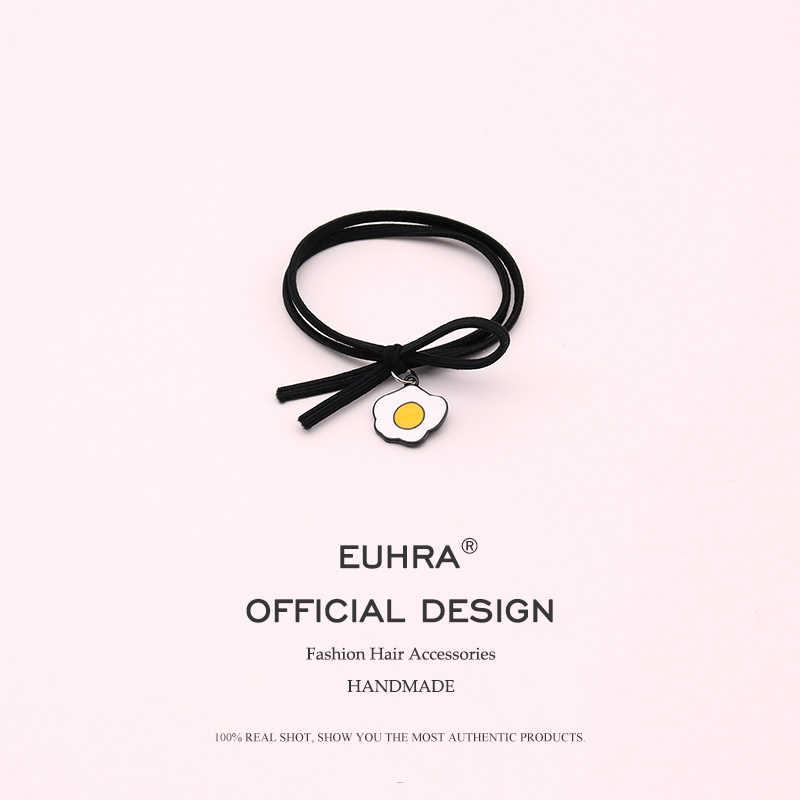 EUHRA 5 видов эластичных резинок для волос кролик медведь утенок яйцо высокая эластичность для женщин девочек Детская повязка для волос резинка