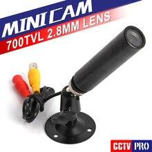 HD Mini Пуля 700TVL Sony Effio CCD Цвета Открытый Широкоугольный 2.8 мм Объектив Камеры ВИДЕОНАБЛЮДЕНИЯ Безопасности в Течение 960 Часов CCTV DVR