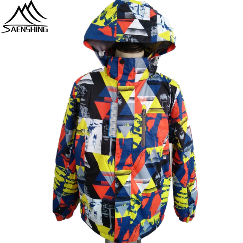 Saenshing Men Ski Jacket Winter Waterproof Snowboard Snow Jacket Windproof Super Warm Thicken Hooded Jackets for Male Outdoor new mens leather waterproof screen gloves mittens for male winter windproof ski super driving warm proctive gloves