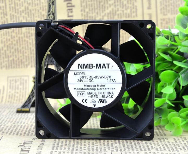 NMB 24VDC 92*92*38.4MM 7200RPM 615RL-05W-B70-E00 DC fan new original nmb 9cm9038 3615rl 05w b49 24v0 73a 92 92 38mm large volume inverter fan