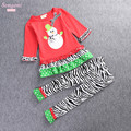 New Autumn Girls Clothing Set Children Christmas Snowman Long Sleeve T-shirt +Pants 2 pieces Kids Clothes Set for 2-6Years