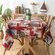 Lychee Flag Print Table Cloth Colorful Cover Home Wedding Birthday Party