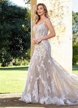 1f35ab359 Nueva llegada Lorie vestidos de novia 2019 con bolsillo Vestido de satén  elegante Vestido de novia ...