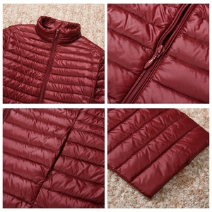Image 5 - NewBang Plus 6XL 7XL Down Jacket Female Long Ultra Light Down Jacket Women Large Size Autumn Winter Down Coat Oversize Outwear