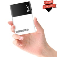 Artlii mini video projector led 320*240p USB/SD/AV/HDMI for TV/ Movie/ Game/ Camping