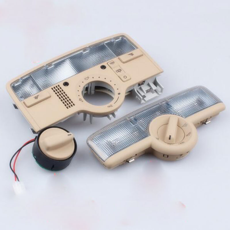 Front Rear Row of Indoor Dome Light For VW Passat B5 06-08 Interior Beige Dome Light Reading Lamp with SunRoof Skylight Switch suitable for vw passat b5 golf 4 jetta mk4 skoda octavia fabia sunroof skylight gray beige dome light reading lamp with switch