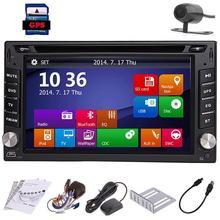 """Резервное копирование Камера Оконные рамы 8 6.2 """"HD GPS навигации 2 DIN стерео dvd-плеер в тире Радио Bluetooth USB SD AUX Ipod MP3 PC"""