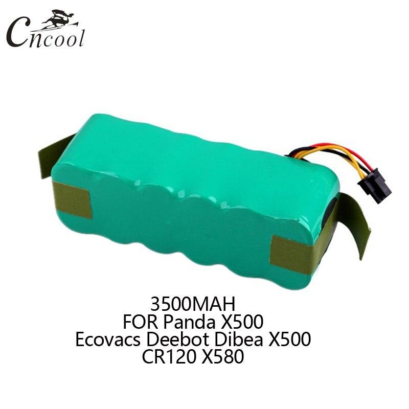 Cncool 14.4 V 3500 mAh NI-MH Remplacement Panda X500 Batterie Pack pour Ecovacs Deebot Dibea X500 CR120 X580 Robotique Vide Cleaner